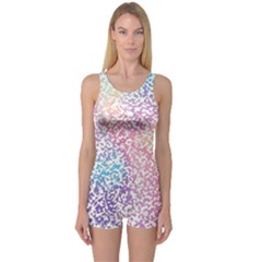Festive Color One Piece Boyleg Swimsuit by Colorfulart23
