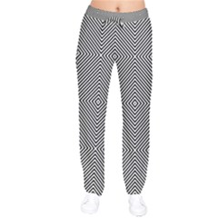 Diagonal Stripe Pattern Seamless Drawstring Pants