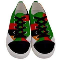 Heart Love Heart Shaped Zambia Men s Low Top Canvas Sneakers