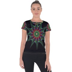 Star Abstract Burst Starburst Short Sleeve Sports Top  by Celenk