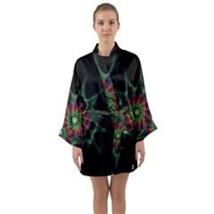 Star Abstract Burst Starburst Long Sleeve Kimono Robe