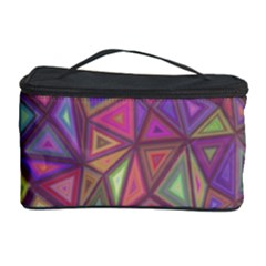 Triangle Background Abstract Cosmetic Storage Case by Celenk