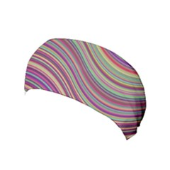 Wave Abstract Happy Background Yoga Headband by Celenk