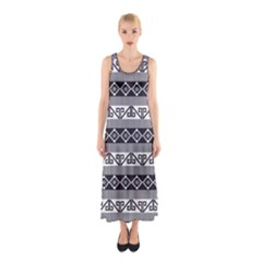 Native American 12 Sleeveless Maxi Dress by Cveti