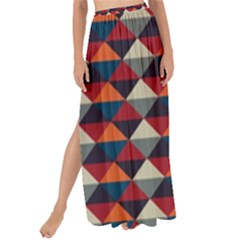 Native American Pattern 21 Maxi Chiffon Tie Up Sarong by Cveti