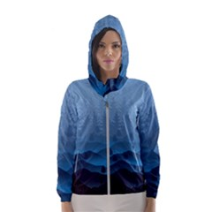 Blue Mountain Hooded Wind Breaker (women) by berwies