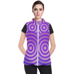 Circle Target Focus Concentric Women s Puffer Vest by Celenk