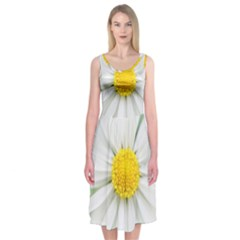Art Daisy Flower Art Flower Deco Midi Sleeveless Dress