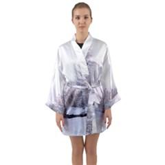 Winter Snow Ice Freezing Frozen Long Sleeve Kimono Robe