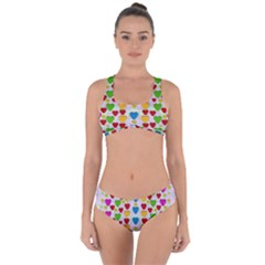 So Sweet And Hearty As Love Can Be Criss Cross Bikini Set by pepitasart