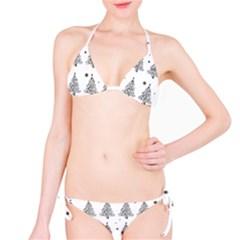 Christmas Tree   Pattern Bikini Set by Valentinaart