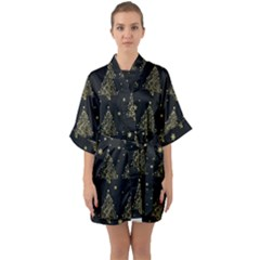 Christmas Tree - Pattern Quarter Sleeve Kimono Robe by Valentinaart