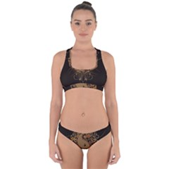 The Sign Ying And Yang With Floral Elements Cross Back Hipster Bikini Set by FantasyWorld7