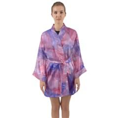Mr  Hughes Blues Long Sleeve Kimono Robe
