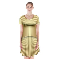 Gold8 Short Sleeve V Neck Flare Dress by 8fugoso