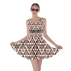 Snowflake With Crystal Shapes 2 Skater Dress by Cveti