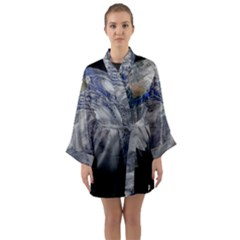 A Sky View Of Earth Long Sleeve Kimono Robe by Celenk