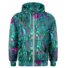 Melted Fractal 1c Men s Zipper Hoodie by MoreColorsinLife