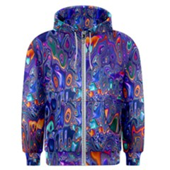 Melted Fractal 1b Men s Zipper Hoodie by MoreColorsinLife