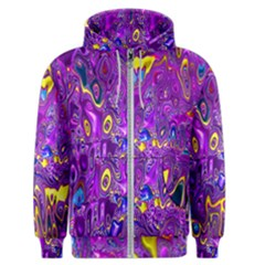Melted Fractal 1a Men s Zipper Hoodie by MoreColorsinLife