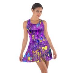 Melted Fractal 1a Cotton Racerback Dress by MoreColorsinLife