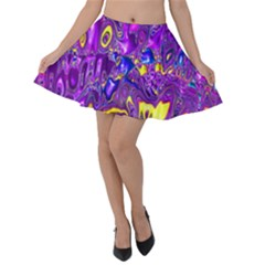 Melted Fractal 1a Velvet Skater Skirt by MoreColorsinLife