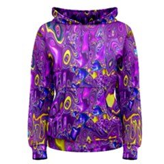 Melted Fractal 1a Women s Pullover Hoodie by MoreColorsinLife