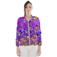 Melted Fractal 1a Wind Breaker (women) by MoreColorsinLife