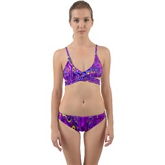 Melted Fractal 1a Wrap Around Bikini Set by MoreColorsinLife