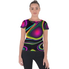 Vibrant Fantasy 5 Short Sleeve Sports Top  by MoreColorsinLife