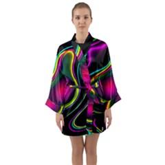 Vibrant Fantasy 5 Long Sleeve Kimono Robe by MoreColorsinLife