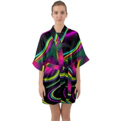 Vibrant Fantasy 5 Quarter Sleeve Kimono Robe by MoreColorsinLife