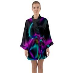 Vibrant Fantasy 3 Long Sleeve Kimono Robe by MoreColorsinLife