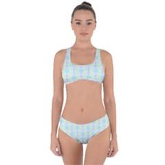 Pattern Criss Cross Bikini Set by gasi