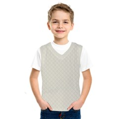 Rich Cream Stitched And Quilted Pattern Kids  Sportswear