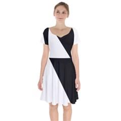 Pattern Short Sleeve Bardot Dress by gasi