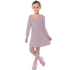 Pattern Kids  Long Sleeve Velvet Dress by gasi