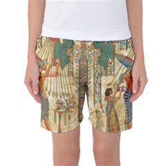 Egyptian Man Sun God Ra Amun Women s Basketball Shorts by Celenk
