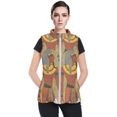 Egyptian Tutunkhamun Pharaoh Design Women s Puffer Vest by Celenk