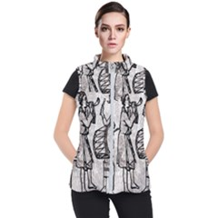 Man Ethic African People Collage Women s Puffer Vest