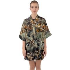Texture Textile Beads Beading Quarter Sleeve Kimono Robe