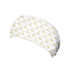 Gold Scales Of Justice On White Repeat Pattern All Over Print Yoga Headband by PodArtist