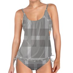 Gray Designs Transparency Square Tankini Set by Celenk