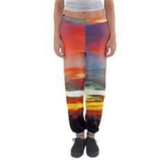Sunset Mountain Indonesia Adventure Women s Jogger Sweatpants by Celenk