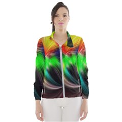 Circle Lines Wave Star Abstract Wind Breaker (women) by Celenk