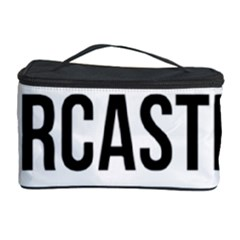 Me Sarcastic Never Cosmetic Storage Case by FunnyShirtsAndStuff