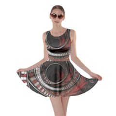 The Thousand And One Rings Of The Fractal Circus Skater Dress