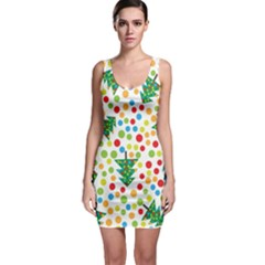 Pattern Circle Multi Color Bodycon Dress