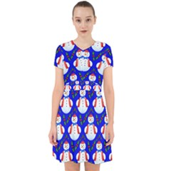 Seamless Repeat Repeating Pattern Adorable In Chiffon Dress by Celenk