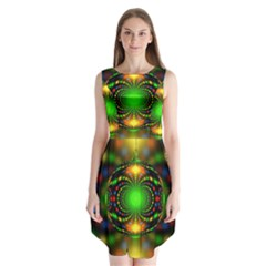 Christmas Ornament Fractal Sleeveless Chiffon Dress   by Celenk